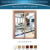 Раздвижная дверь новой панели двойного слоя конструкции декоративной стеклянной нутряная алюминиевая вися