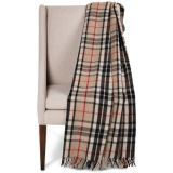 De geweven Omzoomde Deken van de Wol van het Geruite Schotse wollen stof werpt