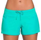 Pugili del sesso di vacanza della spiaggia di Shorts delle donne Lace-up della nuova vita bassa di disegno