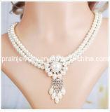 El encanto de la moda de joyería fina joyería hecha a mano Collar de perlas naturales moda conjunto de artículos de moda (PN-129)