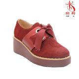 Zapatos ocasionales de las mujeres del estilo clásico de Inglaterra con la decoración del Bowknot (POX95)