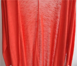 Casaco de lã puro do Knit da cor de Opean do Longline das mulheres