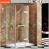 stampa del Silkscreen di 3-19mm/incissione all'acquaforte acida/vetro del reticolo/glassato Safetytempered per la casa, stanza da bagno dell'hotel/acquazzone/schermo con il certificato di SGCC/Ce&CCC&ISO