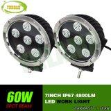 luz de trabalho do trabalho do diodo emissor de luz da lâmpada do diodo emissor de luz do CREE de 7inch 60W auto