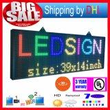 P13 WiFi sans fil de contrôle LED roulant affichage RVB extérieur 7-couleur 3D Effets LED Signs 39X14inch programmable Panneau d'affichage
