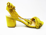 De sexy Schoenen van Dame Fashion Middle Chunky Heel Sandelhout voor Partij