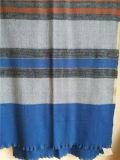 100% Cashmere Tecido Striped Shawl Xc09017-2 #