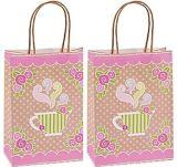 Sacs de promotion de l'emballage, sacs de sacs de magasinage Glitter Stripes sac cadeau de papier, sac de cadeaux