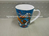 Decalque cheio caneca cerâmica impressa