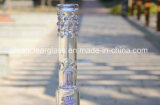 Rokende Pijp van de Waterpijp van het Glas van de fabrikant de In het groot Purpere met de Kom van Downstem en van het Glas