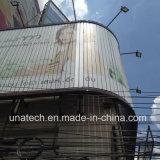 Curva de arco al aire libre Wall-Mounted comienzo la construcción de mostrar publicidad Trivision vallas anuncios