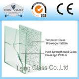 Le verre trempé avec des bords de Pencile/a poli Edegs/bords ronds