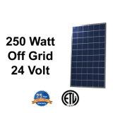poly panneau solaire de 24V 250W pour le système d'alimentation solaire de sur-Réseau