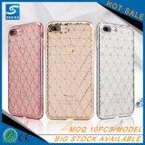 El nuevo Rhinestone TPU del diamante de Bling del estilo de la muchacha popular borra detrás la caja del teléfono móvil para el iPhone 6s más