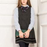 Vestito grigio dall'uniforme scolastico di inverno della ragazza su ordinazione di migliore vendita del fornitore