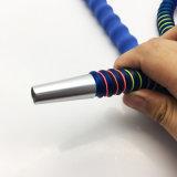 boyau acrylique bleu de Shisha de narguilé de 1.8m avec l'embouchure en verre (ES-HH-011-3)