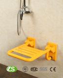 浴室の安全壁に取り付けられた折りたたみのシャワーのシート