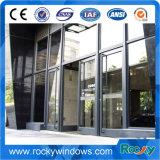Estrutura de alumínio rochosas Terra de vidro da porta da Mola