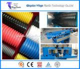 Chaîne de production flexible ondulée en plastique de conduit/câble, machine ondulée d'extrudeuse de boyau