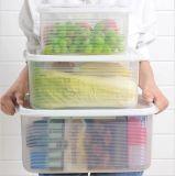 食糧容器の過透性の食品等級プラスチック新し保存ボックス冷却装置マルチ容量は自由な台所BPAのためのスペースを節約する