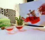 POT europeo del tè di vetro di Borosilicate di disegno di modo dell'inclusione con il filtro 800ml