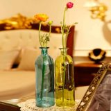 Amostra grátis garrafa de vidro colorido vaso de flores para decoração