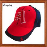 Gorras de béisbol 100% del deporte del bordado del algodón de la manera