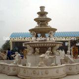 Fontana di acqua di pietra di marmo naturale per il giardino esterno decorativo