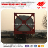 3 des essieux 40FT de conteneur de cadre de camion-citerne remorque semi