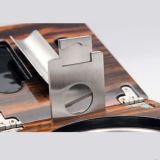 Ashtray сигары кедра створки Cohiba с резцом гильотины & установленный пунш пули (ES-EB-050)