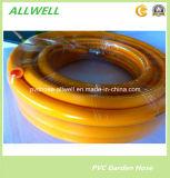 Gaz renforcé tressé par fibre à haute pression jaune de PVC 5 couches de tuyau
