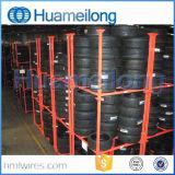 Poudre enduisant la crémaillère de empilement portative de pneu à vendre