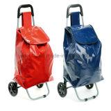 В сложенном положении передвижного дорожная сумка с металлической рамой