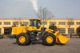 De machine-Lader van de bouw (LQ968) met de Emmer en de Bedieningshendel van de Rots voor Optie