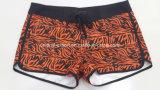 Senhora modelada Placa Curto Swimwear da cintura de Oeko-Tex poliéster liso