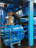 オイルジェット機の給油の2ステージの周波数変換ねじ空気圧縮機