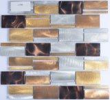 Küche deckt Wand-Dekoration-Aluminium-Mosaik mit Ziegeln