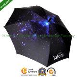 Nouveaux articles Impression numérique Double Ribs Parapluies promotionnels publicitaires (SU-0023BDD)