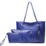 新しい到着の学生かばんの女性袋4セットPUの余暇袋(LDO-15500)