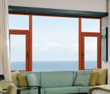 Aluminum personalizado Double Glazing Windows, Casement Window com Flyscreen