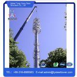 Unipolar tubería galvanizada Radio Comunicación torre de acero