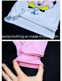 夏の短い袖の綿の2部分の子供の衣服