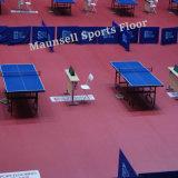 Deportes de interior del PVC de los campos de tenis del vector que suelan con el estándar de Ittf
