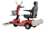 モップによって移動性のスクーターをきれいにする3つの車輪