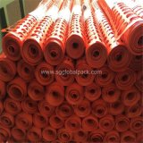 Valla de seguridad naranja en color 1X50mts 80GSM malla 40x100 mm