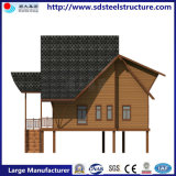 壁が付いているプレハブの鋼鉄小屋の容器の家の調節
