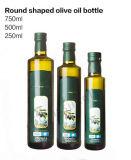 Glasflasche des Olivenöl-500ml mit hölzerner Schutzkappe