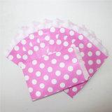Ecológica punto grandes bolsas de papel rosa de fiesta