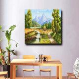 Vente en gros de peintures à l'huile à la main sur toile, peinture à la main à la décoration intérieure