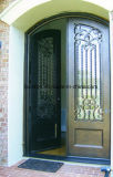 Portello modellato moderno del ferro dell'entrata con vetro Tempered
